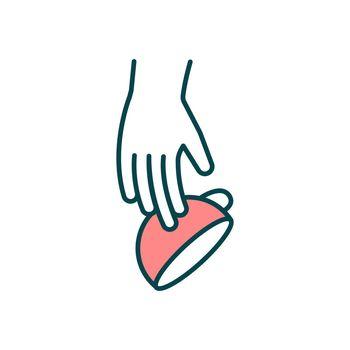 Hand tremor RGB color icon
