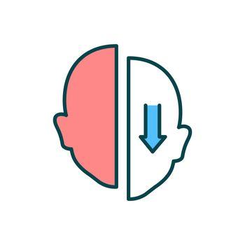 Facial droop RGB color icon