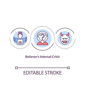 Believers internal crisis concept icon