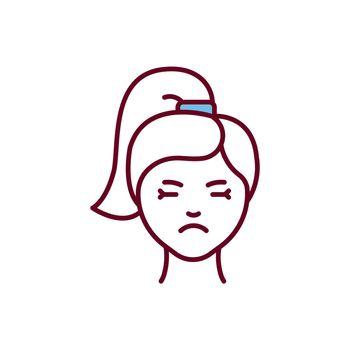 Irritability RGB color icon