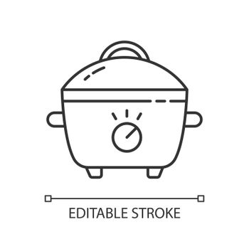 Slow cooker linear icon