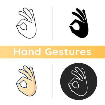 Okay gesture icon