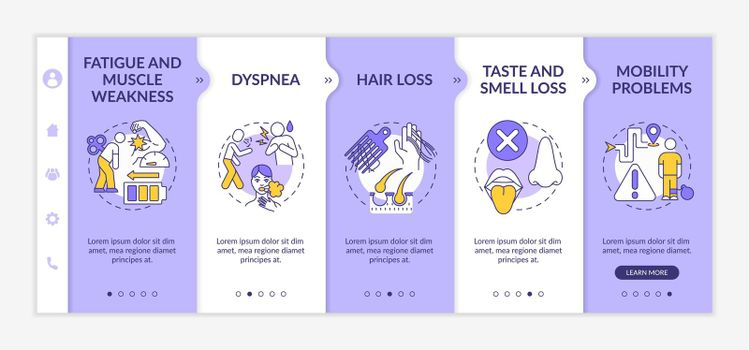 Syndrome of post-covid onboarding vector template