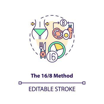 The 16-8 method concept icon