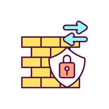 Firewalls RGB color icon