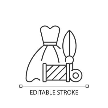 Wedding and prom gown alterations linear icon