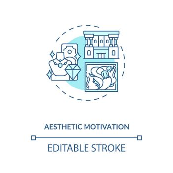 Aesthetic motivation concept icon