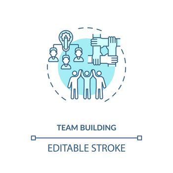 Team building concept icon