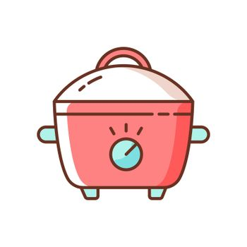 Slow cooker RGB color icon