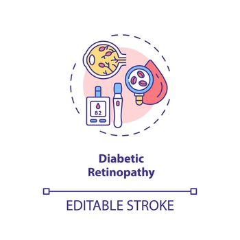 Diabetic retinopathy concept icon