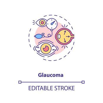 Glaucoma concept icon