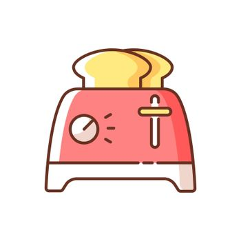 Toaster RGB color icon