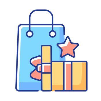 Earn reward points RGB color icon