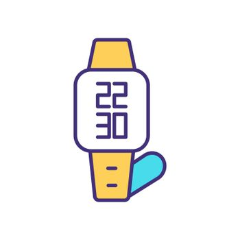 Wristwatch RGB color icon