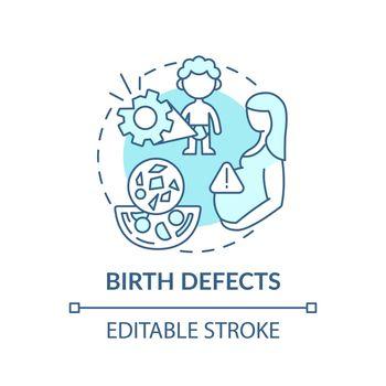 Birth defects concept icon