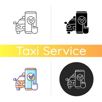 Taxi booking icon