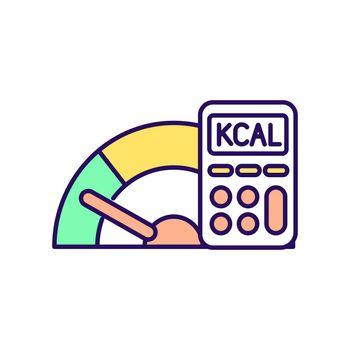 Reduce calories RGB color icon