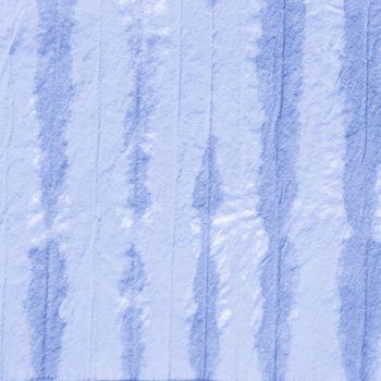 Indigo Dyed Striped Print. Space Ethnic