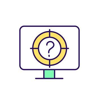 Online questionnaire RGB color icon