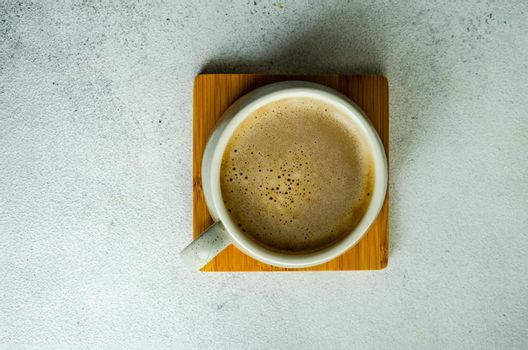 Cup of coffe with milk