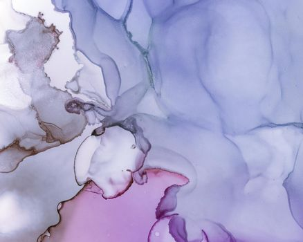Ethereal Water Pattern. Alcohol Ink Wash