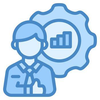Skill icon design blue ui style