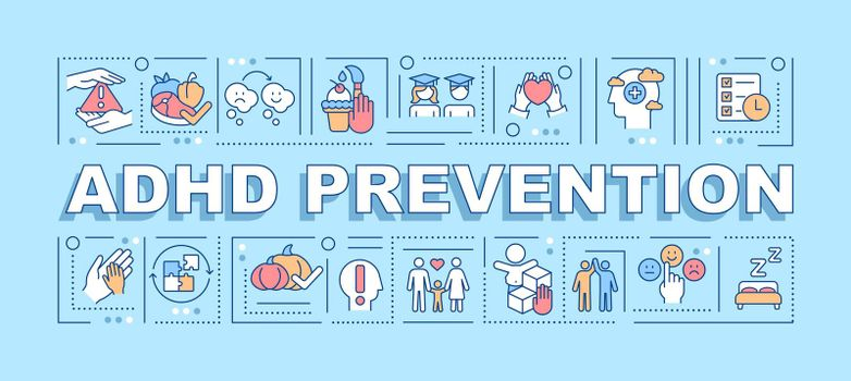 ADHD prevention word concepts banner