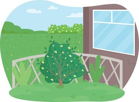 Garden maintenance 2D vector web banner, poster