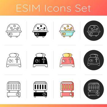 Kitchen appliance icons set