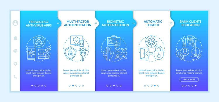 Multi-factor authentication onboarding vector template