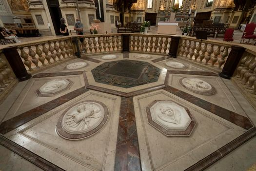 Basilica Sant'Andrea in Mantova, Italy.