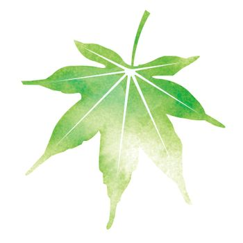 Summer motif watercolor painting illustration for summer greeting card etc. | maple leaf