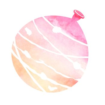 Summer motif watercolor painting illustration for summer greeting card etc. | water balloon
