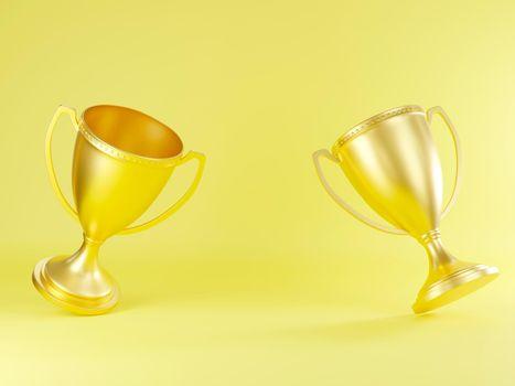 Golden trophy cup, Champion trophy