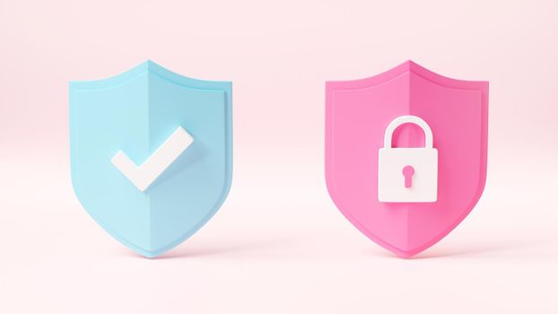 Protection padlock abstract shield security with lock data symbol icon