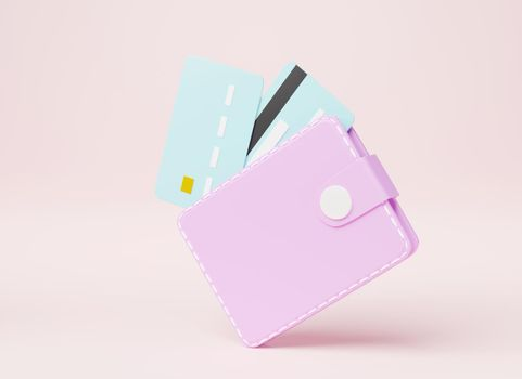 Leather wallet with credit cards inside icon