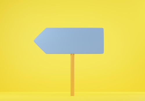 Sign directions blank road signs four arrows pointing different directions choice