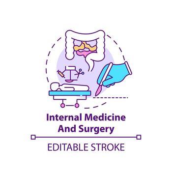 Internal medicine and surgery concept icon
