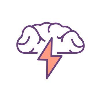 Brainstorming RGB color icon