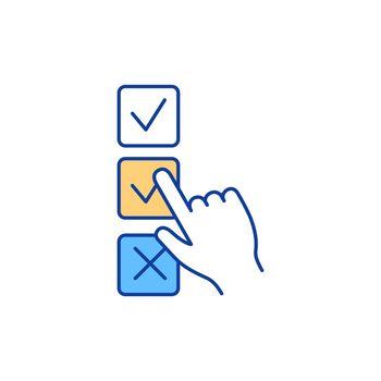 Voting RGB color icon