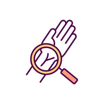 Wrist injuries RGB color icon