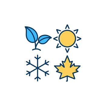 Seasons RGB color icon