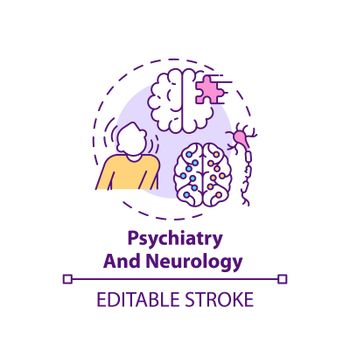Psychiatry and neurology concept icon