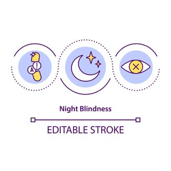 Night blindness concept icon