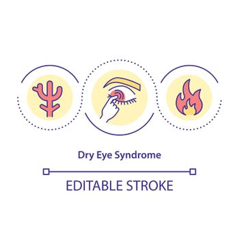 Dry test syndrome concept icon