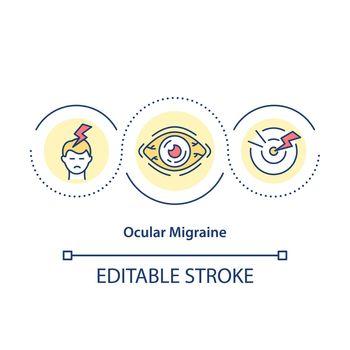 Ocular migraine concept icon
