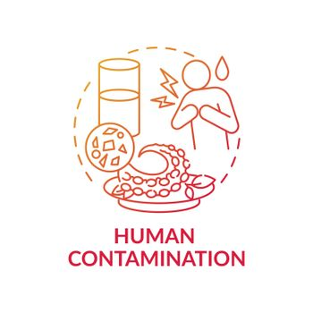 Human contamination concept icon