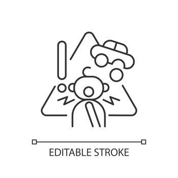Choking hazard toys linear icon