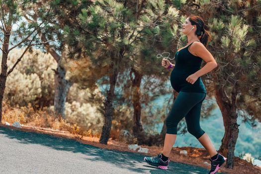 Pregnant Woman Running