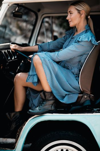 Stylish Woman in the Car